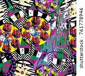 seamless geometric pattern... | Shutterstock .eps vector #761778946