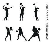 volly ball team work event...   Shutterstock .eps vector #761779480