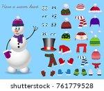 set for creation cute cartoon... | Shutterstock .eps vector #761779528