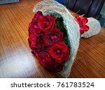 bouquet for wedding anniversary ... | Shutterstock . vector #761783524
