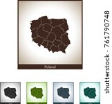 map of poland | Shutterstock .eps vector #761790748