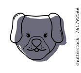 color cute dog head pet animal... | Shutterstock .eps vector #761792566