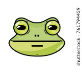 cute frog head wild animal... | Shutterstock .eps vector #761794429