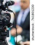 media coverage of politics | Shutterstock . vector #761801230