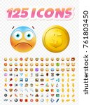 set of realistic cute icons on... | Shutterstock .eps vector #761803450
