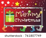 merry christmas everyone ... | Shutterstock .eps vector #761807749