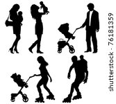 several people with children  ... | Shutterstock .eps vector #76181359