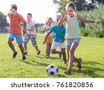 active kids having fun and... | Shutterstock . vector #761820856