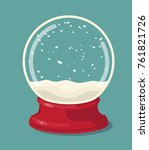 vector empty snow globe. vector ... | Shutterstock .eps vector #761821726