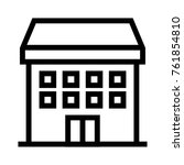 guesthouse flat line icon.... | Shutterstock .eps vector #761854810
