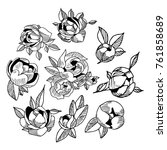 peony icon illustration. doodle ...   Shutterstock . vector #761858689