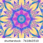 abstract kaleidoscope pastel... | Shutterstock . vector #761863510