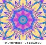 abstract kaleidoscope pastel... | Shutterstock . vector #761863510