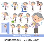 purple clothes... | Shutterstock .eps vector #761872324