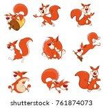 vector illustration of cute... | Shutterstock .eps vector #761874073