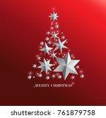 christmas card  merry christmas ... | Shutterstock .eps vector #761879758