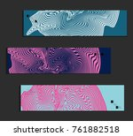 minimal banner templates with... | Shutterstock .eps vector #761882518