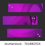 minimal banner templates with... | Shutterstock .eps vector #761882524