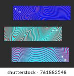 minimal banner templates with... | Shutterstock .eps vector #761882548