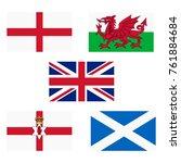 vector illustration flags of uk ... | Shutterstock .eps vector #761884684