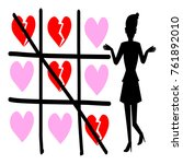 heartbreak  silhouette vector... | Shutterstock .eps vector #761892010