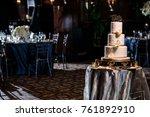 wedding cake decoration | Shutterstock . vector #761892910