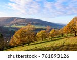 sunrise in ardennes  wallonia ... | Shutterstock . vector #761893126