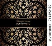 vintage baroque wedding... | Shutterstock .eps vector #761893450