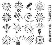 firework icons. celebration... | Shutterstock .eps vector #761893738