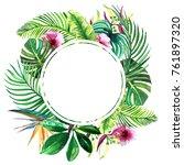 summer  floral sale banner.... | Shutterstock . vector #761897320