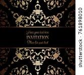 vintage baroque wedding... | Shutterstock .eps vector #761898010