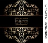vintage baroque wedding... | Shutterstock .eps vector #761898274
