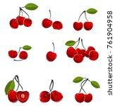 vector illustration of cherry... | Shutterstock .eps vector #761904958