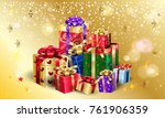 gifts for christmas 2019 new... | Shutterstock .eps vector #761906359