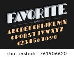 vanguard vector decorative bold ... | Shutterstock .eps vector #761906620