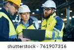 male and female industrial... | Shutterstock . vector #761907316