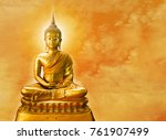 Buddha Statue With Aura On...
