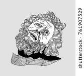 classical sculpture. vector... | Shutterstock .eps vector #761907529