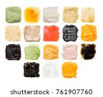 a lot of samples of different... | Shutterstock . vector #761907760