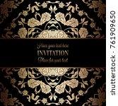 vintage baroque wedding... | Shutterstock .eps vector #761909650