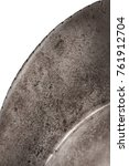 Small photo of medieval knight's helmet Morion on white background