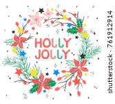 christmas and new year...   Shutterstock .eps vector #761912914