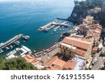 marina and a beach in sorrento  ... | Shutterstock . vector #761915554