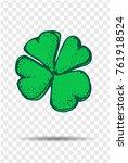 clover   four leaf   hand... | Shutterstock .eps vector #761918524