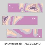 abstract banner template with... | Shutterstock .eps vector #761923240