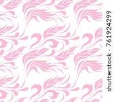 pink ornamental pattern | Shutterstock .eps vector #761924299