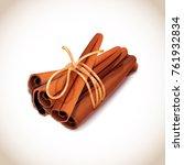 closeup of some cinnamon sticks ... | Shutterstock .eps vector #761932834
