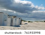 little beach cabins at a north... | Shutterstock . vector #761933998