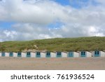 little beach cabins at a north... | Shutterstock . vector #761936524