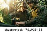 military staging base  officer... | Shutterstock . vector #761939458